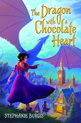 dragon with chocolate heart